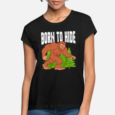 Arbre Born To Hide Camp Randonnée Montagne Bigfoot - T-shirt oversize Femme