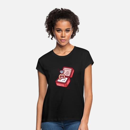 Love T-Shirts - ring - Women's Loose Fit T-Shirt black