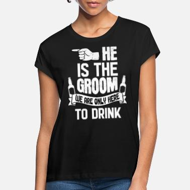 Vegas Only Here To Drink Groom - Frauen Oversize T-Shirt