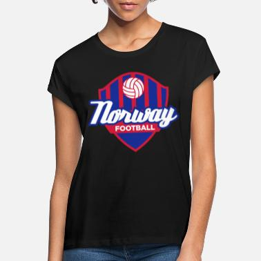 Mandapeno Norway Football Emblem (3c, NEU) - Women's Loose Fit T-Shirt