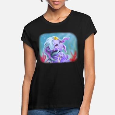 Preppy Style Monster Girl - Frauen Oversize T-Shirt