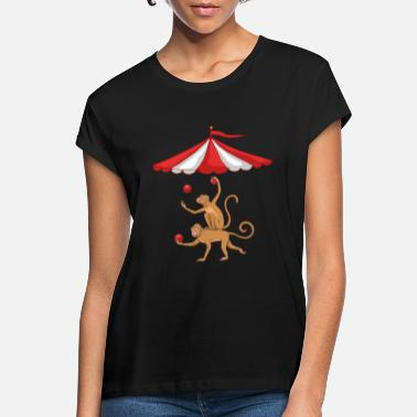 Circus Monkey circus monkey feather monkey dance circus tent - Women's Loose Fit T-Shirt