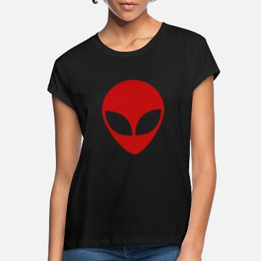 Spacemonster Alien Ufo Peace Spacemonster Discovery Spaceship - Women's Loose Fit T-Shirt