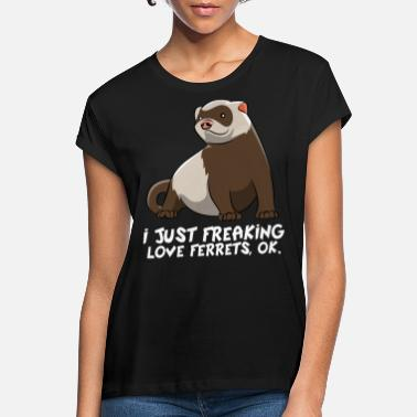 Present Ferret Sweet Funny Lover Pet Gift - Women's Loose Fit T-Shirt