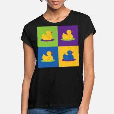 Graphic Art Pop Art Shirt Ducks Graphic Art Retro Gift Tee - Koszulka damska oversize