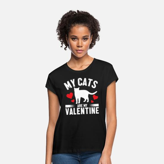 Animal Lover T-Shirts - Cat Valentine - Women's Loose Fit T-Shirt black
