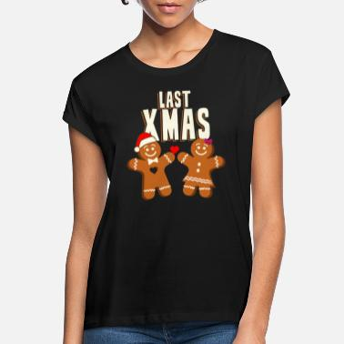 Last Ninja Last Xmas Gingerbread Man Gingerbread Woman Humor - Maglietta larga donna