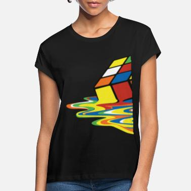 Cube Rubik's Cube Melted Colourful Puddle - Vrouwen oversized T-Shirt