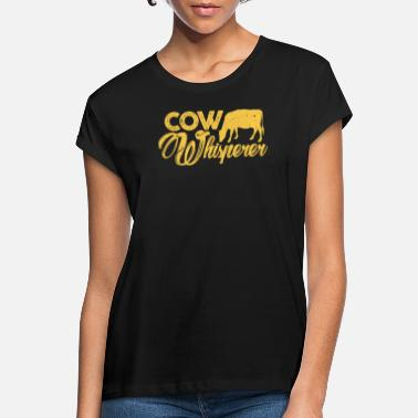 Crop cow - Women's Loose Fit T-Shirt
