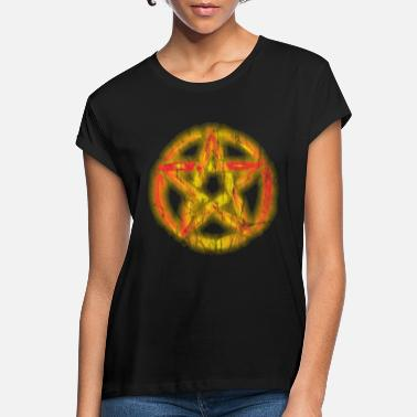 Pentacle Burning Pentacle Pentacle vintage - Women's Loose Fit T-Shirt