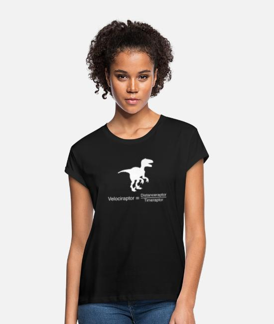 2019 T-Shirts - velociraptor funny science - Women's Loose Fit T-Shirt black