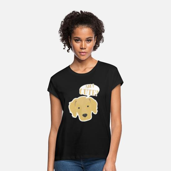 Labrador T-shirts - Golden retrievers - T-shirt oversize Femme noir