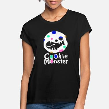 Karmea Monsteri Cookie Monster (w) - Naisten oversized t-paita