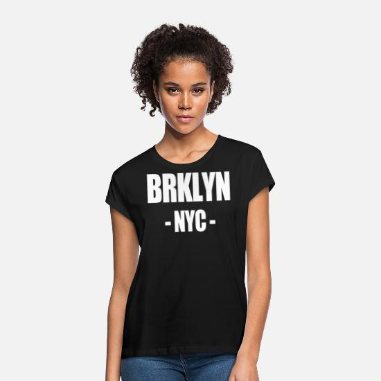 Big Apple T-shirts - BRKLYN NYC - Oversize T-shirt dame sort