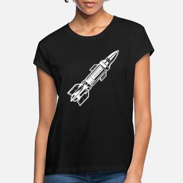 Missile Missile missile diagonal white - Women's Loose Fit T-Shirt