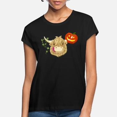 Cow Highland Cow Halloween - Women's Loose Fit T-Shirt