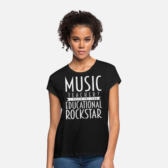 Rock T-Shirts - music teacher - Women's Loose Fit T-Shirt black