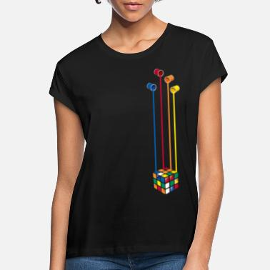 Rubik's Cube Colourful Paint Buckets - Women's Loose Fit T-Shirt
