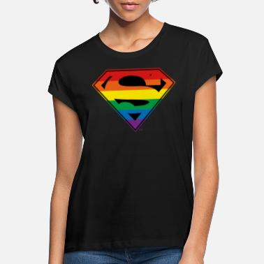 Justice League Superman Rainbow Logo - Vrouwen oversized T-Shirt