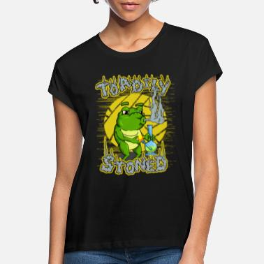 Toadily Stoned - Totally Stoned | Cannabis toad - Women's Loose Fit T-Shirt