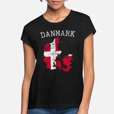 Nationale Denemarken nationale vlag - Vrouwen oversized T-Shirt