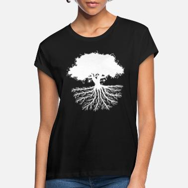 Root tree roots white - Women's Loose Fit T-Shirt