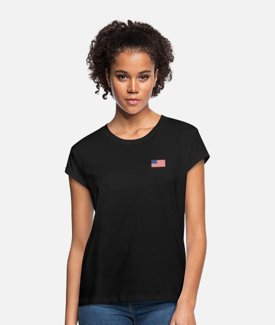Usa T-Shirts - American flag - Women's Loose Fit T-Shirt black