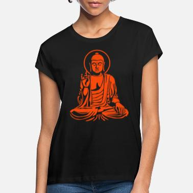 Young Buddha Young Buddha No.1_1c - Frauen Oversize T-Shirt