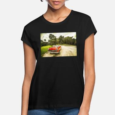 Plymouth Vintage cabriolet - Vrouwen oversized T-Shirt
