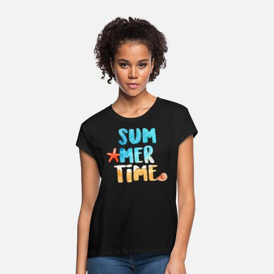 Gift Idea T-Shirts - vacation - Women's Loose Fit T-Shirt black