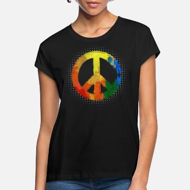 Hippie Movement Hippie Hippie Movement Peace Movement Peace - Women's Loose Fit T-Shirt