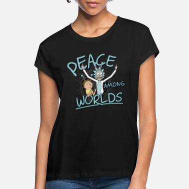 Rick & Morty Peace Among Worlds - Frauen Oversize T-Shirt