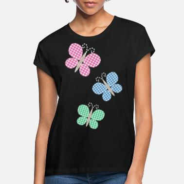 Patches Vlinders Applikaton-patches - Vrouwen oversized T-Shirt