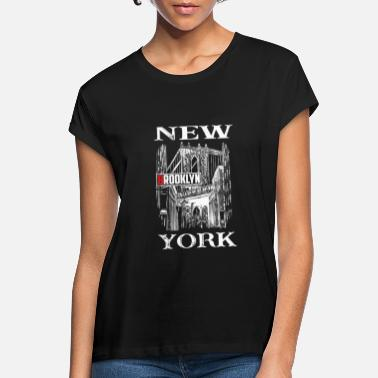 Brooklyn Bridge New York Brooklyn Bridge white - Women's Loose Fit T-Shirt