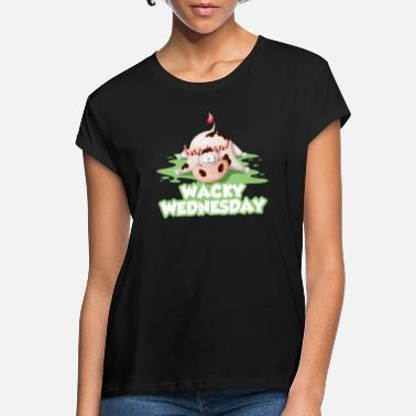 Bse Wacky Wednesday cow BSE work office day - Women's Loose Fit T-Shirt