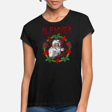 Heavy Sleigher | Santa Claus Christmas Heavy Metal - Women's Loose Fit T-Shirt