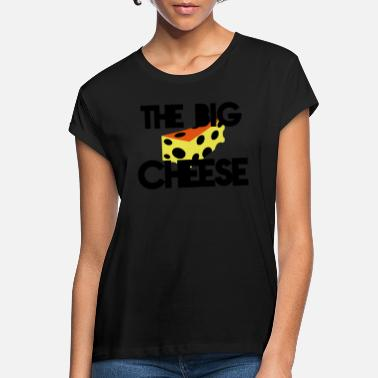 Cheese THE BIG CHEESE with swiss cheese (BOSS design) - Women's Loose Fit T-Shirt