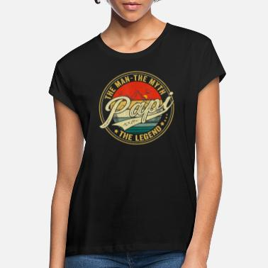 Mens Papi Man Myth Legend Vintage Daddy Father - Women's Loose Fit T-Shirt