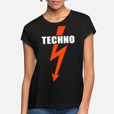 Techno Bass Techno bass musik - Oversize T-shirt dame