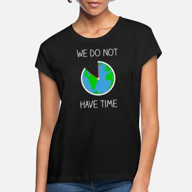 Fridays Fridays For Future - World globe as a clock - Women's Loose Fit T-Shirt