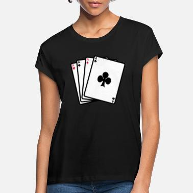 Cards poker cards - Vrouwen oversized T-Shirt