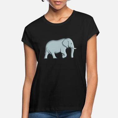 Safari Elephant Elephant Trunk Safari Tusks Safari - Vrouwen oversized T-Shirt