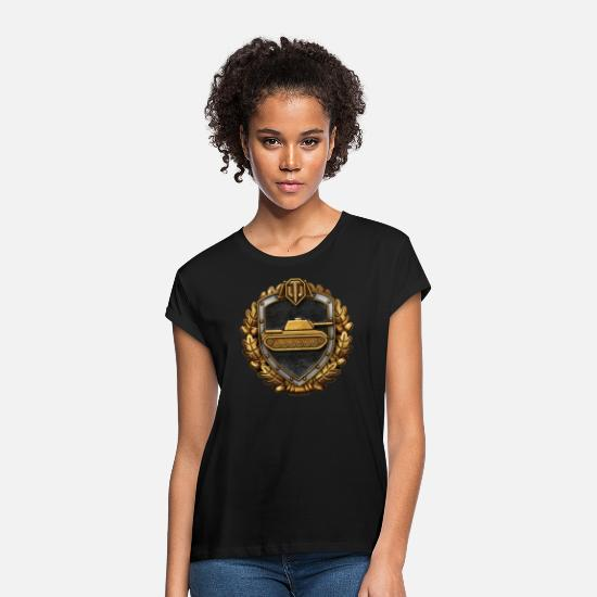 World T-Shirts - World of Tanks Medals Logo - Women's Loose Fit T-Shirt black