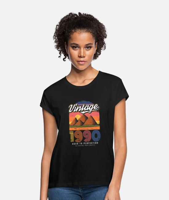 Legend T-Shirts - Vintage 1990 birthday retro vintage gift - Women's Loose Fit T-Shirt black