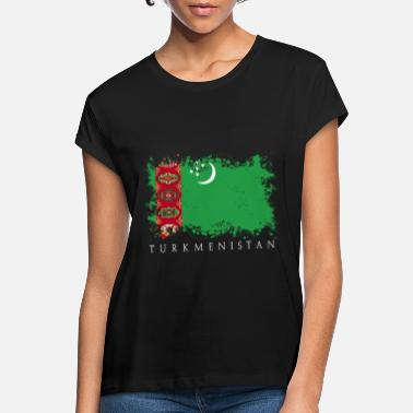 Central Asia Turkmenistan Central Asia flag flag country - Women's Loose Fit T-Shirt