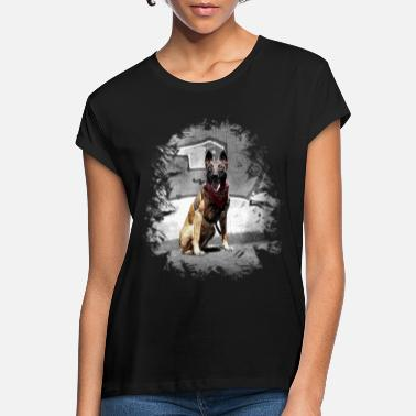 Training Belgian Malinois graffiti - Women's Loose Fit T-Shirt