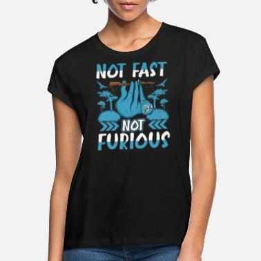 Not Fast Not Furious Funny Sloth Hiking Lover Fan - Frauen Oversize T-Shirt
