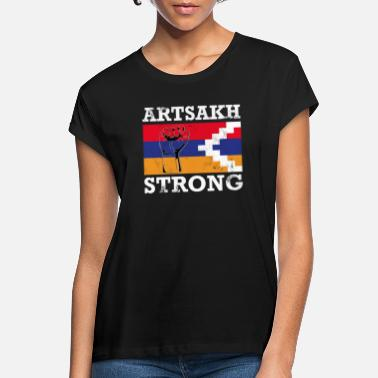 Strong Artsakh Strong - Artsakh Armenia Support Flag Fist - Vrouwen oversized T-Shirt