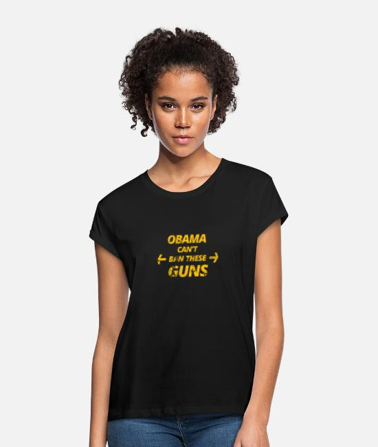 Usa T-Shirts - obama - Frauen Oversize T-Shirt Schwarz