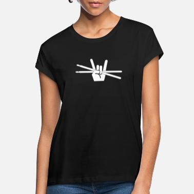 Metal Fork Drummer Drumsticks Drums Metal Fork Rock - Frauen Oversize T-Shirt